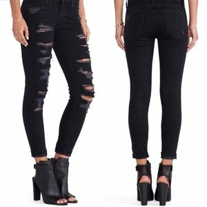 Current/Elliott Stiletto Tattered Skinny Jeans 26